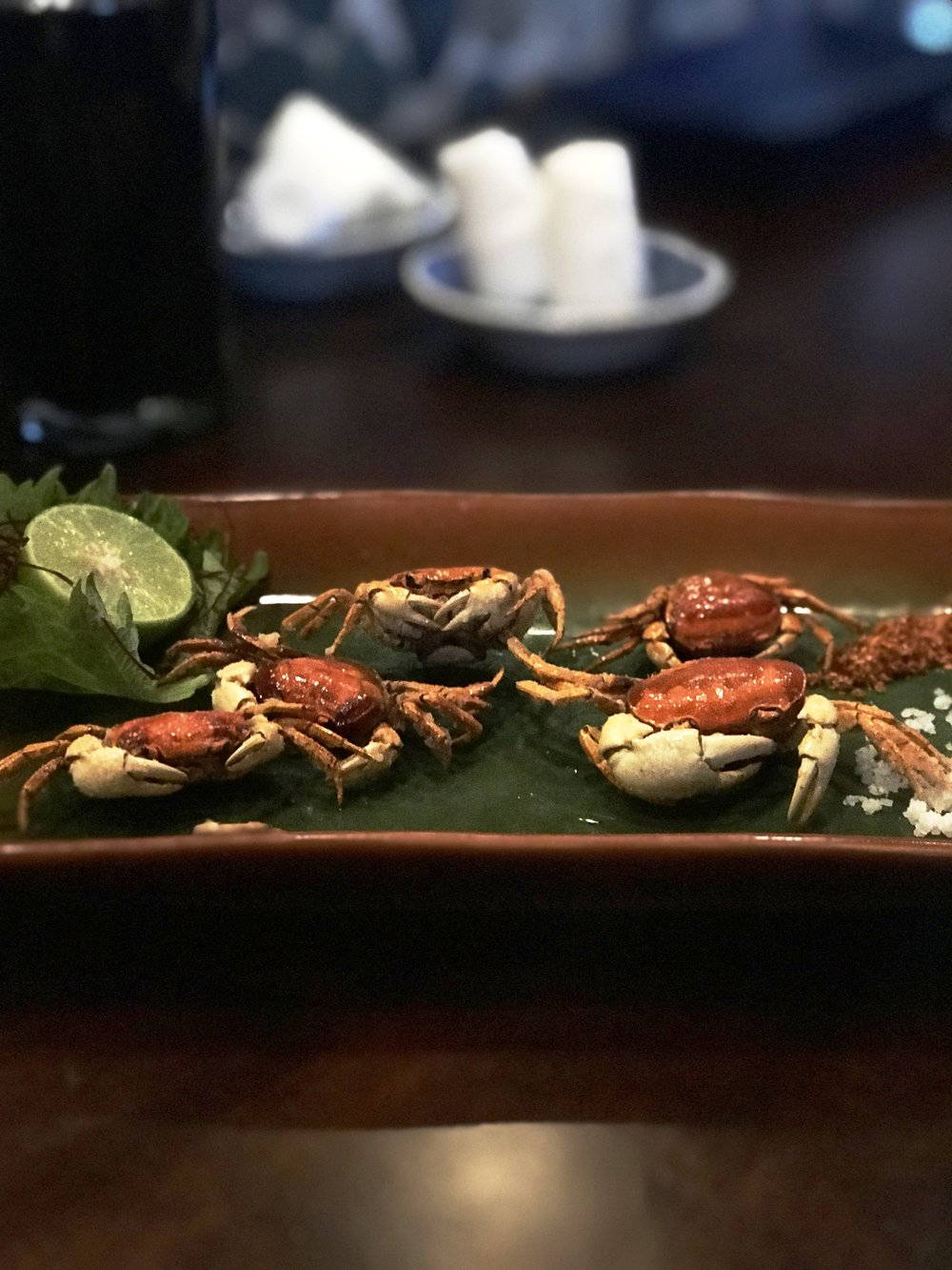 SAWAGANI - PRO TIP: SQUEEZE LIME JUICE ON TOP OF CRAB SHELL, BE ADVENTUROUS, AND EAT THE WHOLE CRAB AT ONCE! DON'T BE SCARED ;)