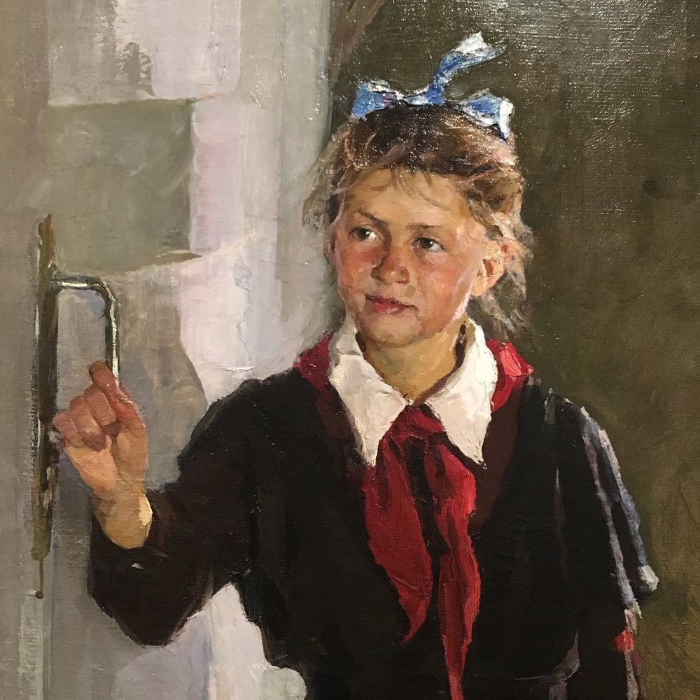spring finn and co russian art museum minneapolis soviet children oil painting russian painting details