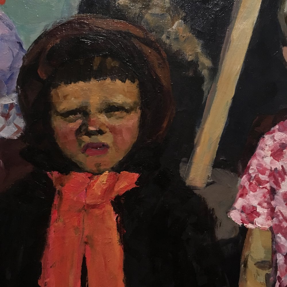 spring finn and co russian art museum minneapolis soviet children oil painting russian painting details soviet nature morte child with scarf