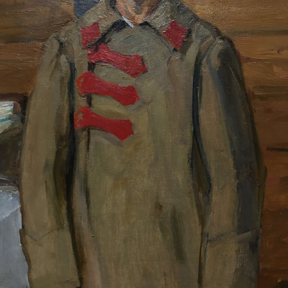 spring finn and co russian art museum minneapolis soviet children oil painting russian painting details soviet nature morte soviet military jacket oil painting