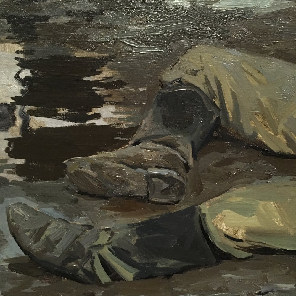 spring finn and co russian art museum minneapolis soviet children oil painting russian painting details soviet nature morte soviet military boots