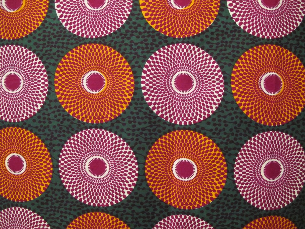 spring finn and co museum visits fowler museum at ucla orange and green and pink african cloth
