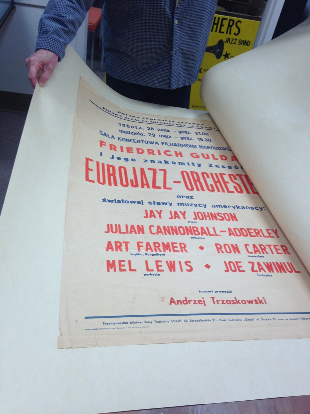 new orleans jazz archives eurojazz orchestra julian cannonball adderley ron carter  polish jazz poster
