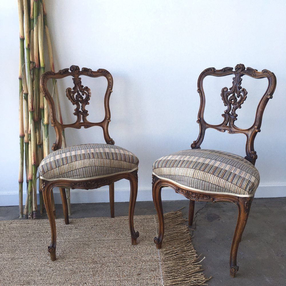 Duo Of Vintage French Chairs + Idarica Gazzoni