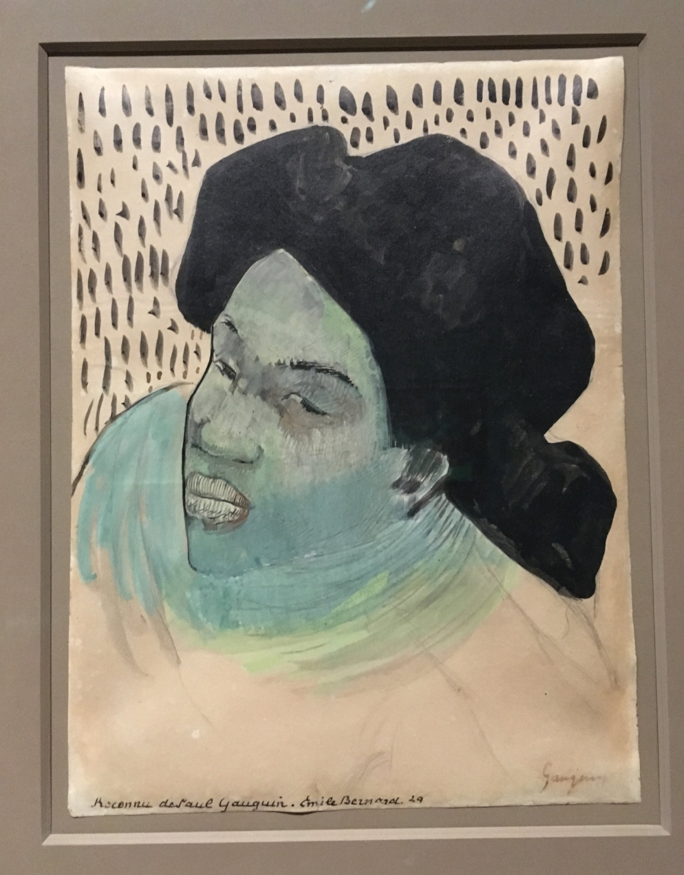 Paul Gauguin Head of a Tahitian WomanGaugain Artist as Alchemist art institute chicago