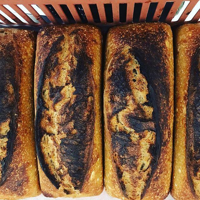 Vores storesøsterbutik @bagerietbrod har været tidligt oppe og bagt lækkert økologisk toastbrød til os! Kom ned at smag vores tomat, chedder, rødvinssyltede rødløg og myntedressing toast ! 🌮🍲🌬 vi har åbent 8-24 !