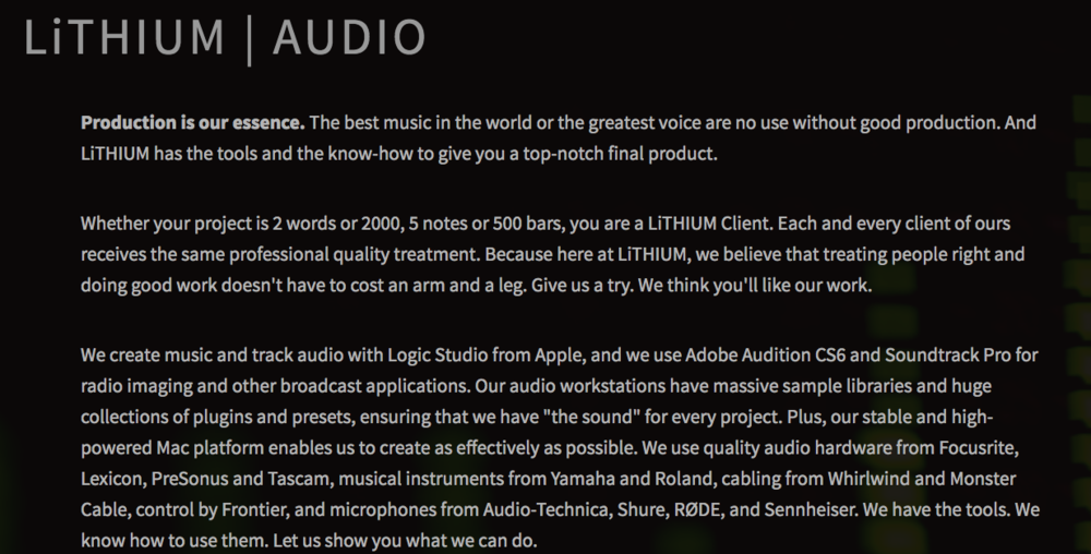 Copy of Audio Page