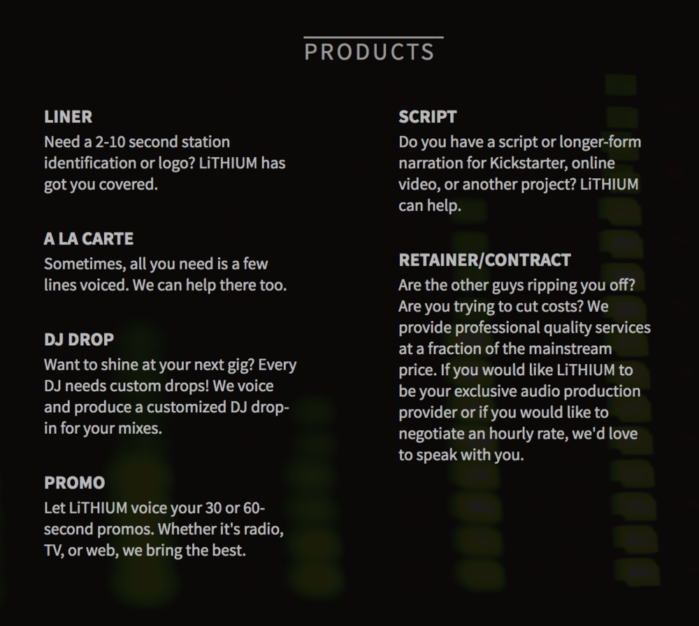Copy of Products Page 1