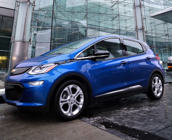 The Chevy Bolt EV. This compact car runs completely on electricity and yields 238 miles on a single charge. Our group split up into teams and each took a Bolt EV through metro Detroit on a landmarks scavenger hunt. I was impressed by the smartphone integration capabilities and the pickup of the electric motor.