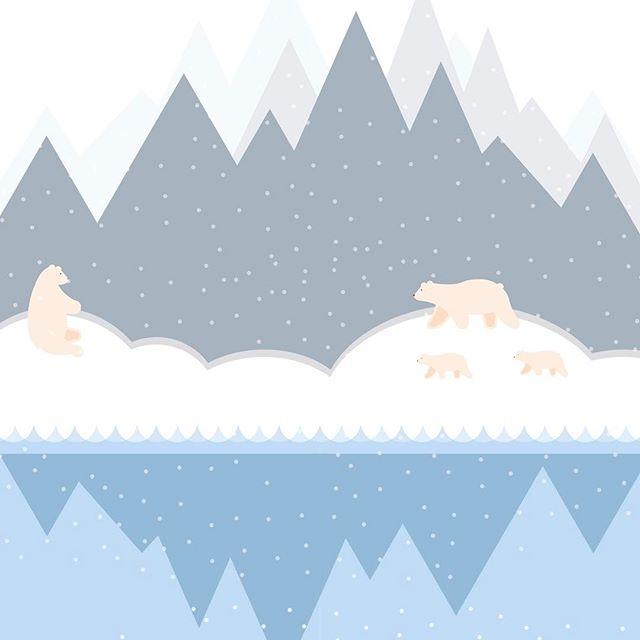Arctic Fun ❄️ #design #graphics #adobe #designproject #anthropocene #polarbear #ice #cubs #sketch #book #art #designstudent #illustrator #artic #mac #adobeillustrator #bear #polar #designer #graphics