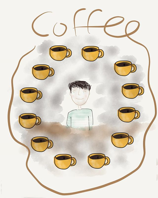 COFFEE TIME ☕️ #doodle #sketch #coffee #paper #art #graphicdesign #ipad #apple #applepencil #thebesttimeoftheday #☕️