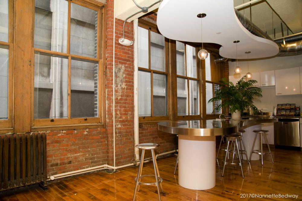 caxton building creative modern office space kitchen