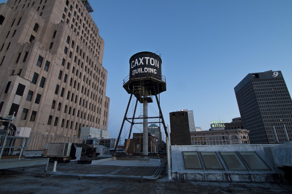 caxton building water tower