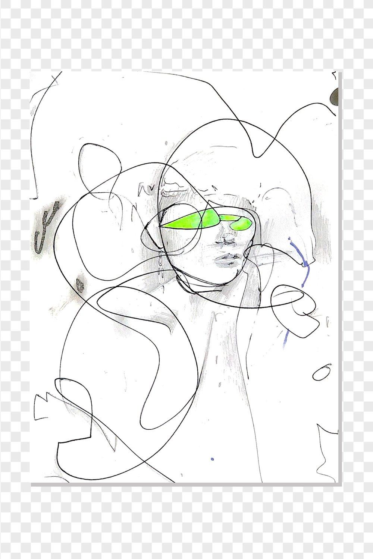 MAJA   digitally altered drawing . 2018 7 in x 5 in