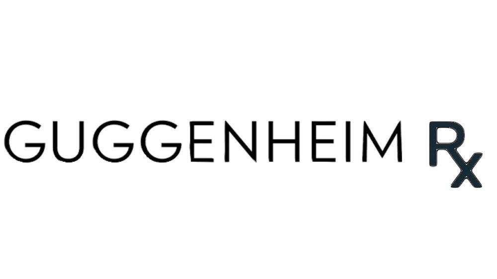 GUGGENHEIM RX  Guggenheim logo & Rx text.  digital collage. 2019 16:9