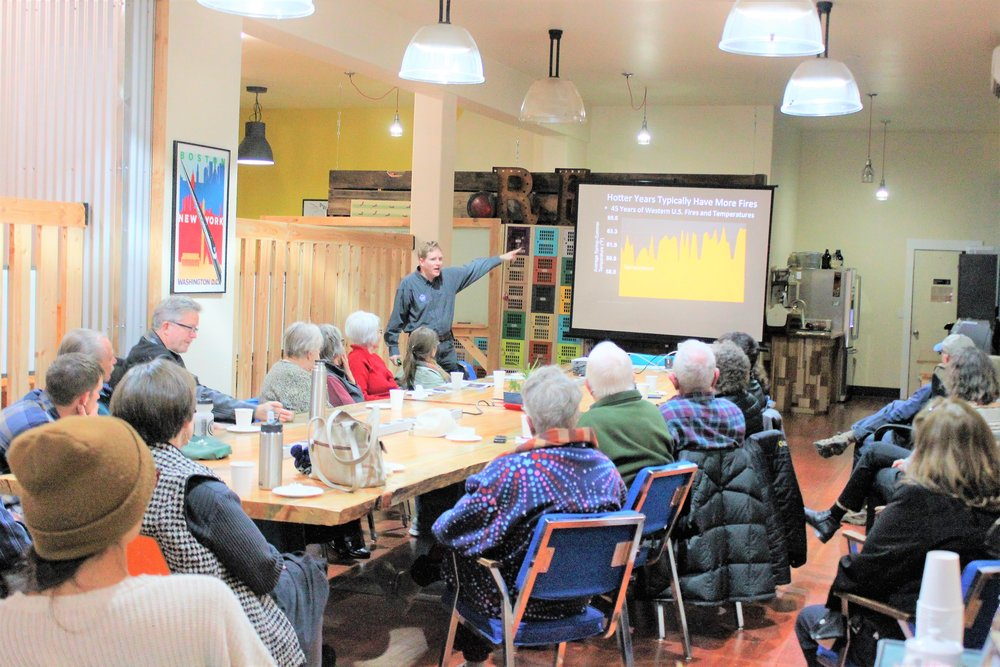 Brian Ettling presented to a small crowd of Klamath residents, Photo by Mathias Dean