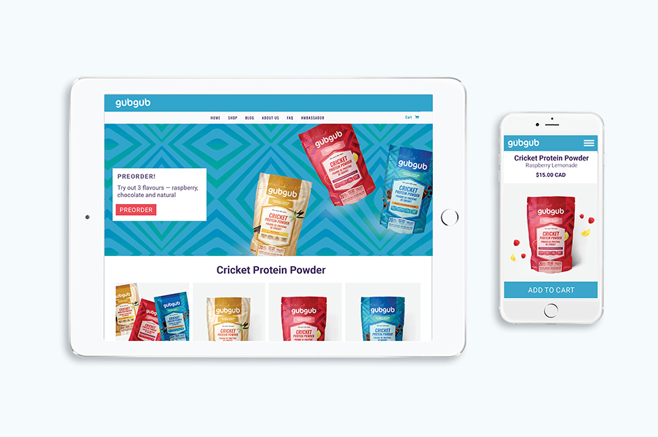 R&G Strategic, gubgub, cricket protein powder, Ecommerce Website.jpg