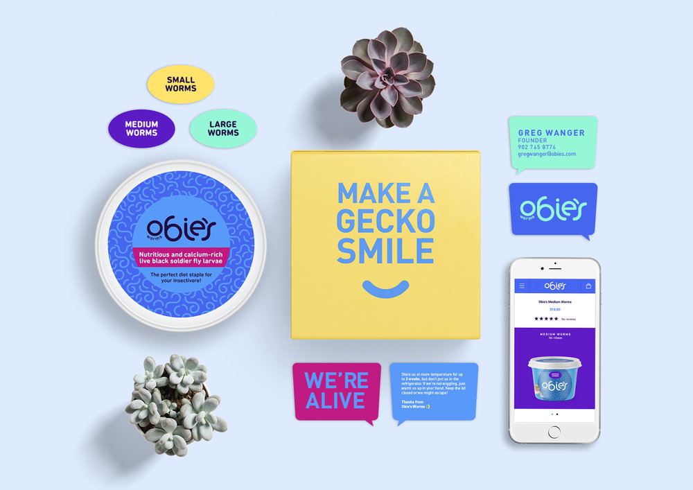 Obie's Worms brand collateral