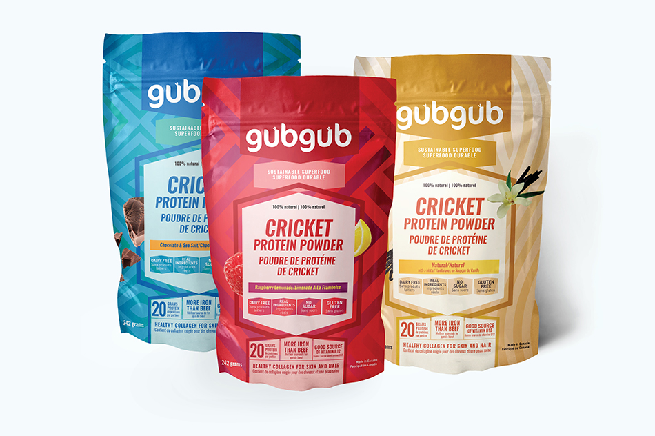 gubgub Cricket Protein Packaging 3 Flavours