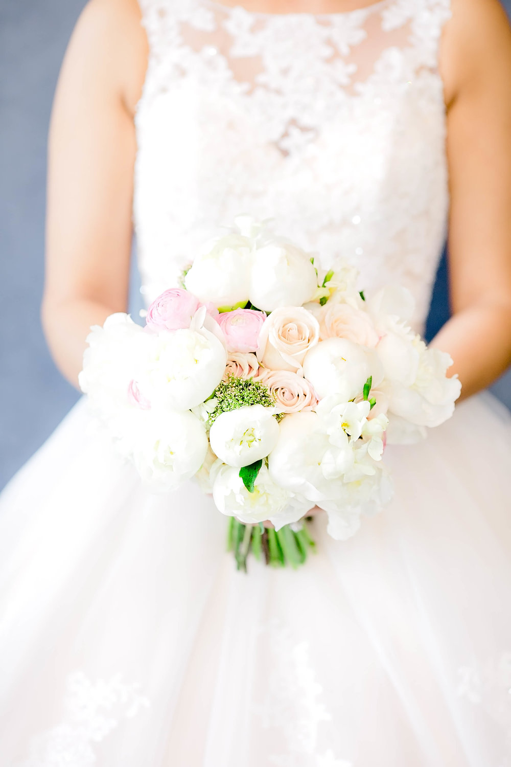 Bridal bouquet, bride