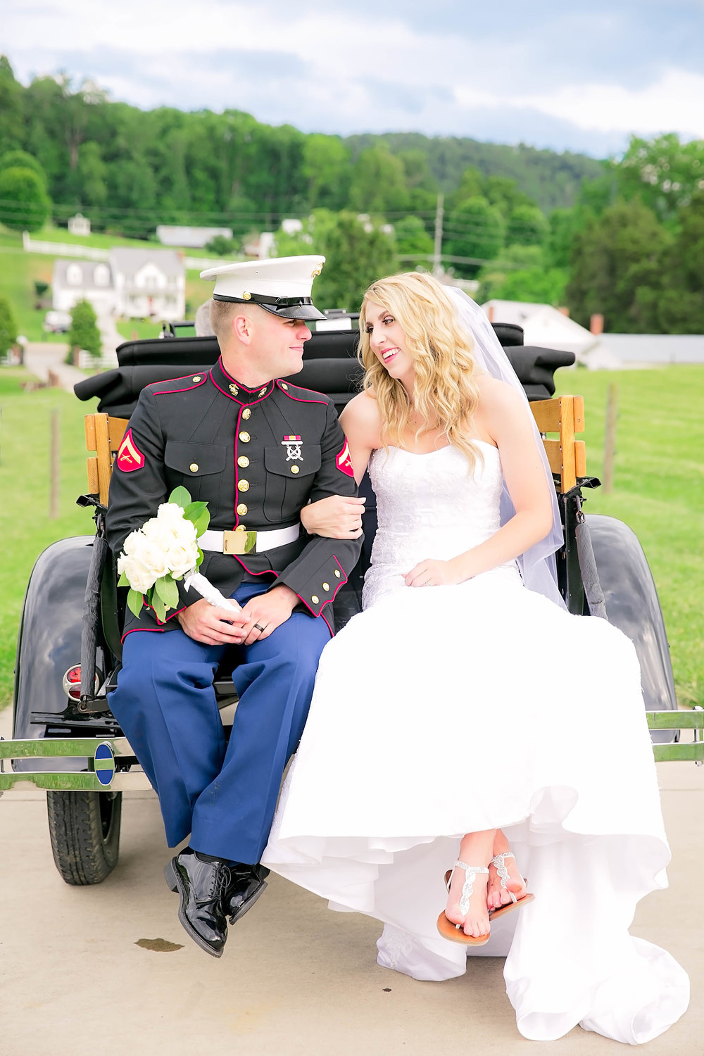 Marine Wedding Couple