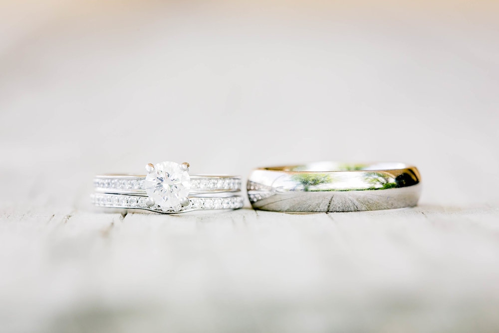 Wedding bands, ring shot, wedding details