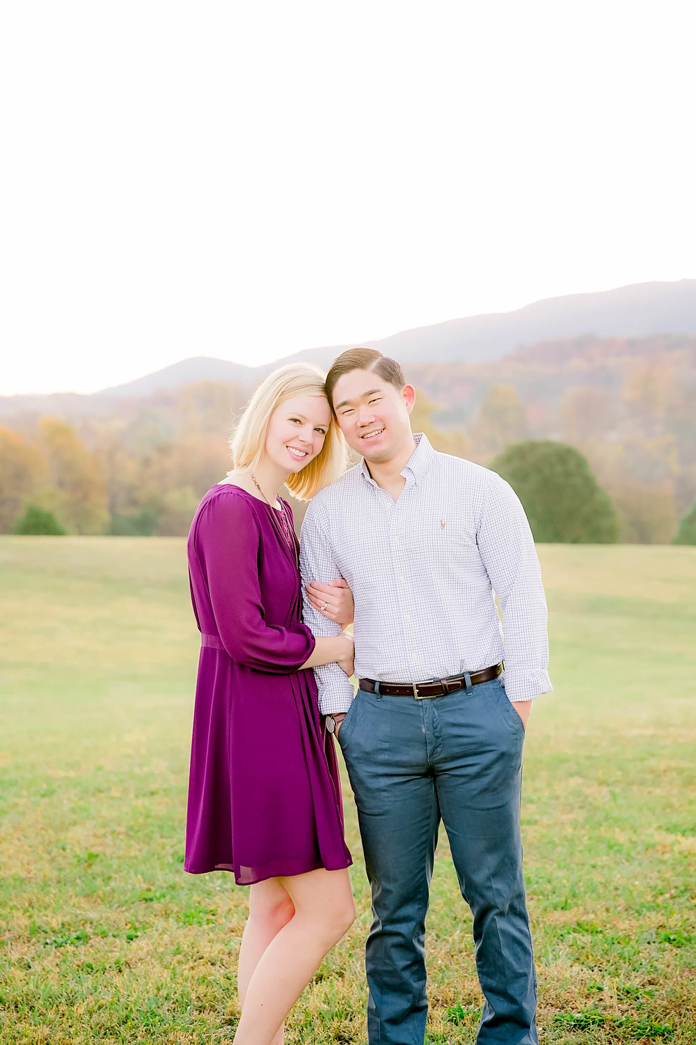 Johnson City, TN sunrise engagement session, East Tennessee wedding photography, Tri Cities engagement photography, bright and airy golden hour photography