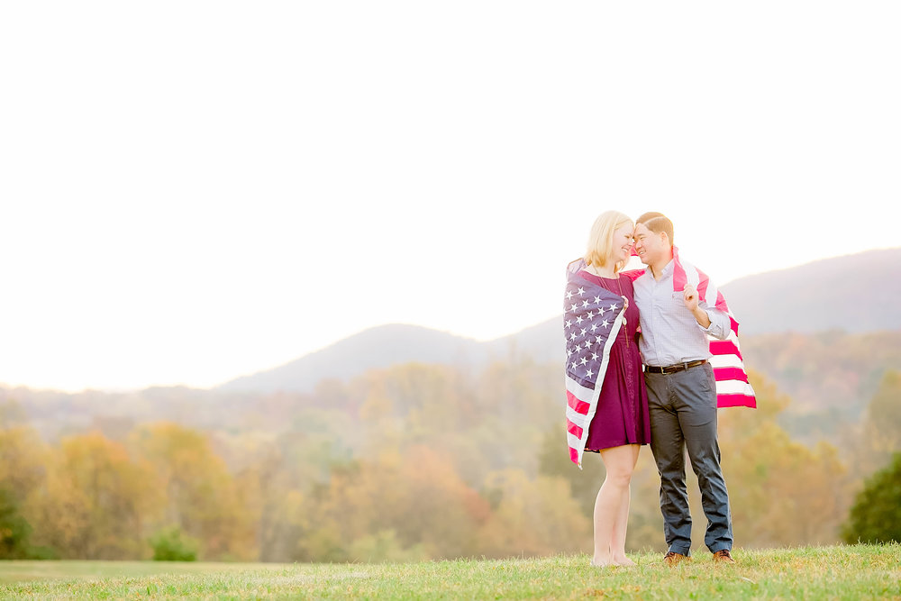 Johnson City, TN sunrise engagement session, East Tennessee wedding photography, Tri Cities engagement photography, military couple, military engagement session