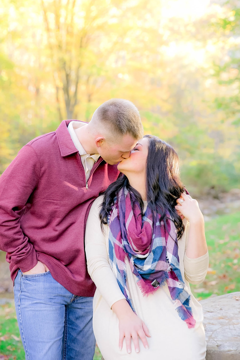 Doe River Gorge fall engagement session, East Tennessee engagement photography, Johnson City wedding photographer