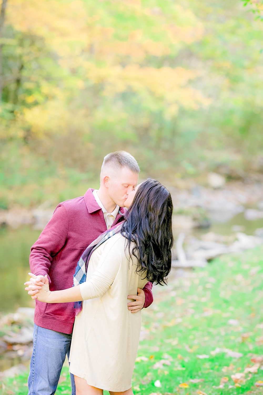 Doe River Gorge fall engagement session, East Tennessee engagement photography, Johnson City wedding photographer, sunset engagement photos