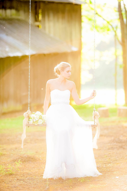 Colley Hill Farm, Dandridge TN wedding venue, East Tennessee wedding photography, styled wedding shoot, bridal portrait, East Tennessee wedding venue, farm wedding venue, tree swing