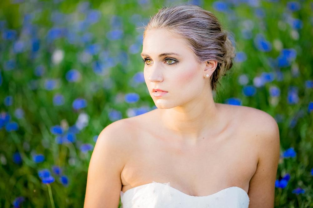 Colley Hill Farm, Dandridge TN wedding venue, East Tennessee wedding photography, styled wedding shoot, bridal portrait, East Tennessee wedding venue, farm wedding venue, cornflower field