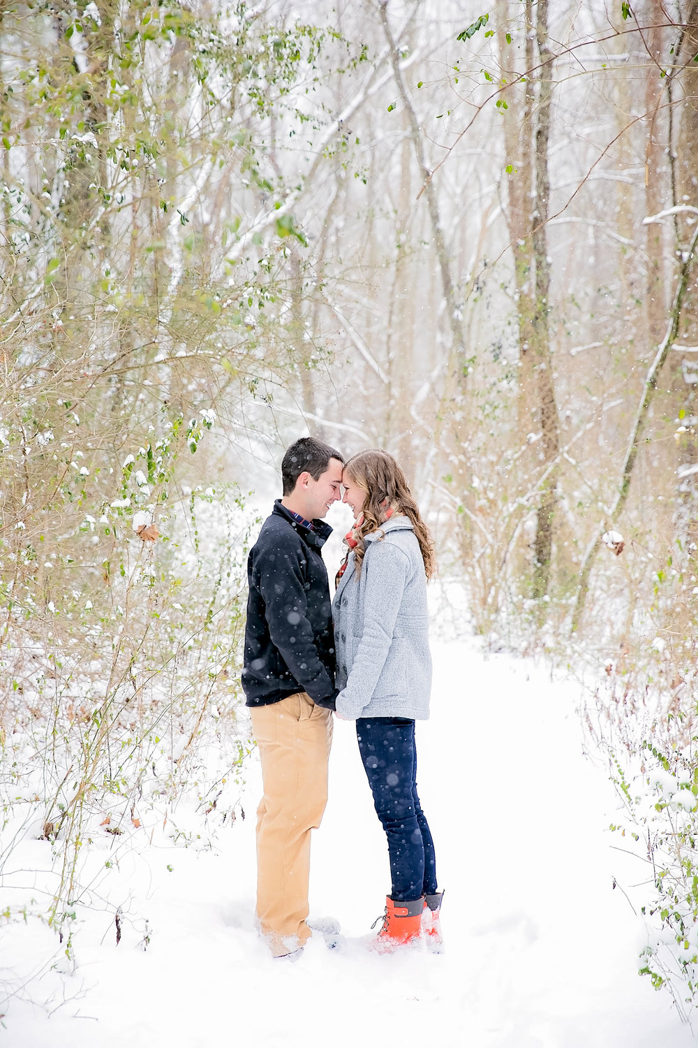 Snowy East Tennessee engagement session