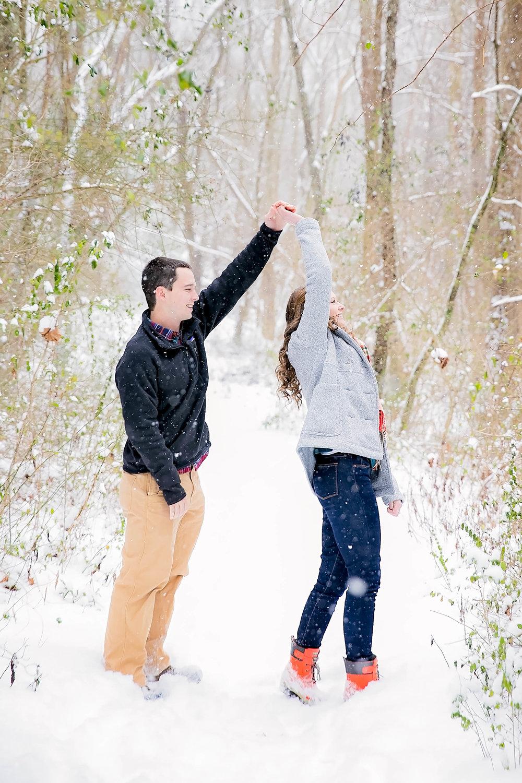 Snow Johnson City, TN engagement session