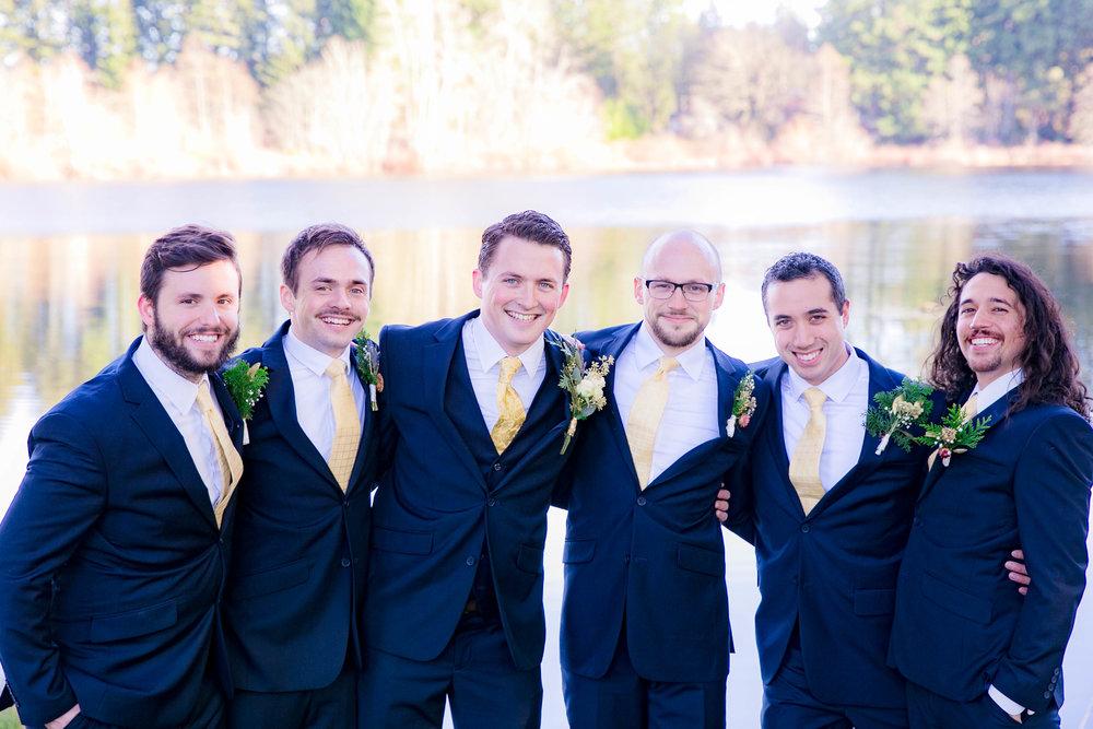 Groomsmen, wedding party photo