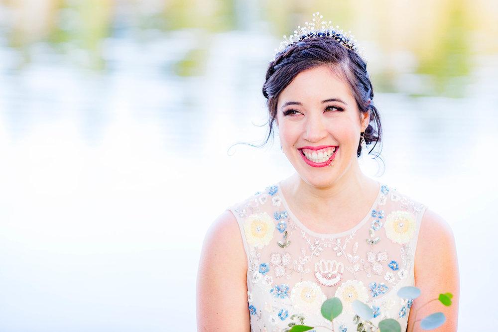 Bride, happy tears