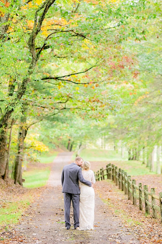 Mountain City, TN farm wedding, East Tennessee fall wedding, bride and groom portrait