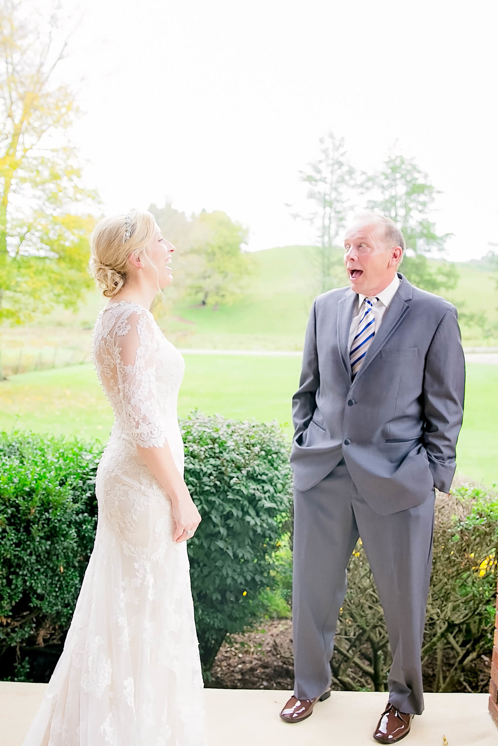 Mountain City, TN farm wedding, East Tennessee fall wedding, Tri Cities Wedding, father of the bride first look