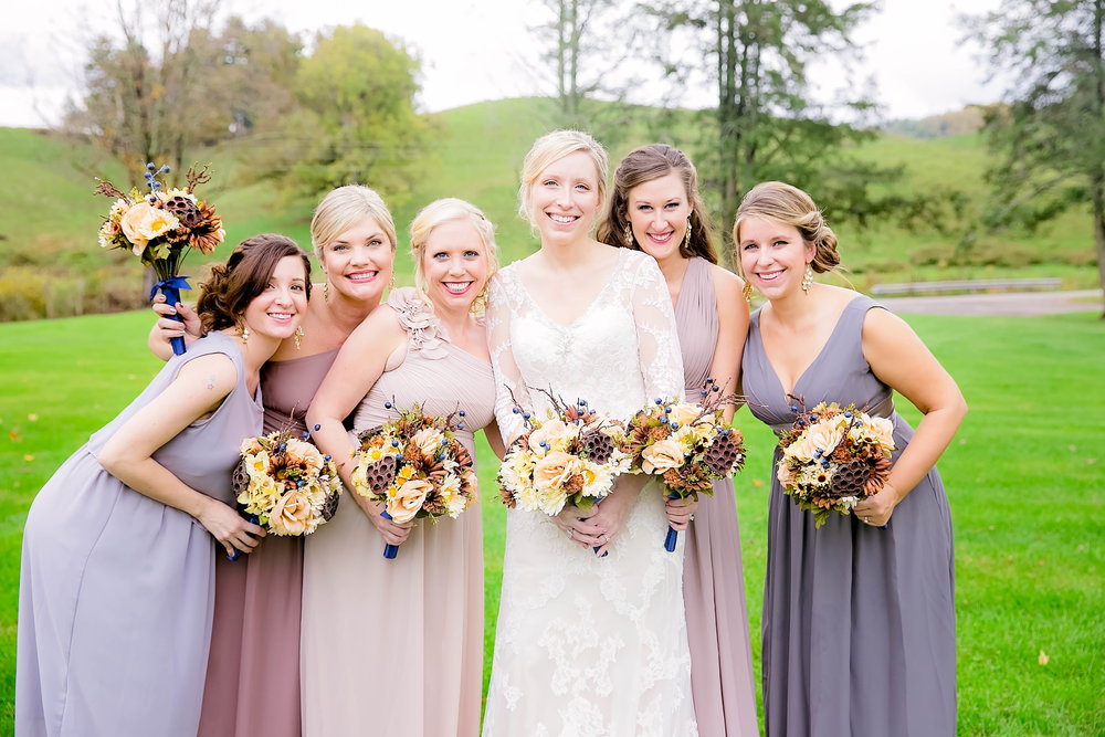 Mountain City, TN farm wedding, East Tennessee fall wedding, Tri Cities Wedding, bridesmaids, bridal party