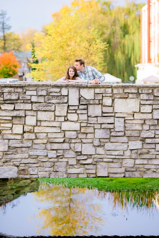 Jonesborough, TN sunrise engagement, romantic bridge, fall engagement