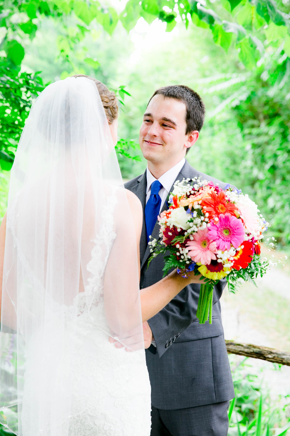 Hot Springs, NC wedding, East Tennessee Wedding photography, bride and groom first look