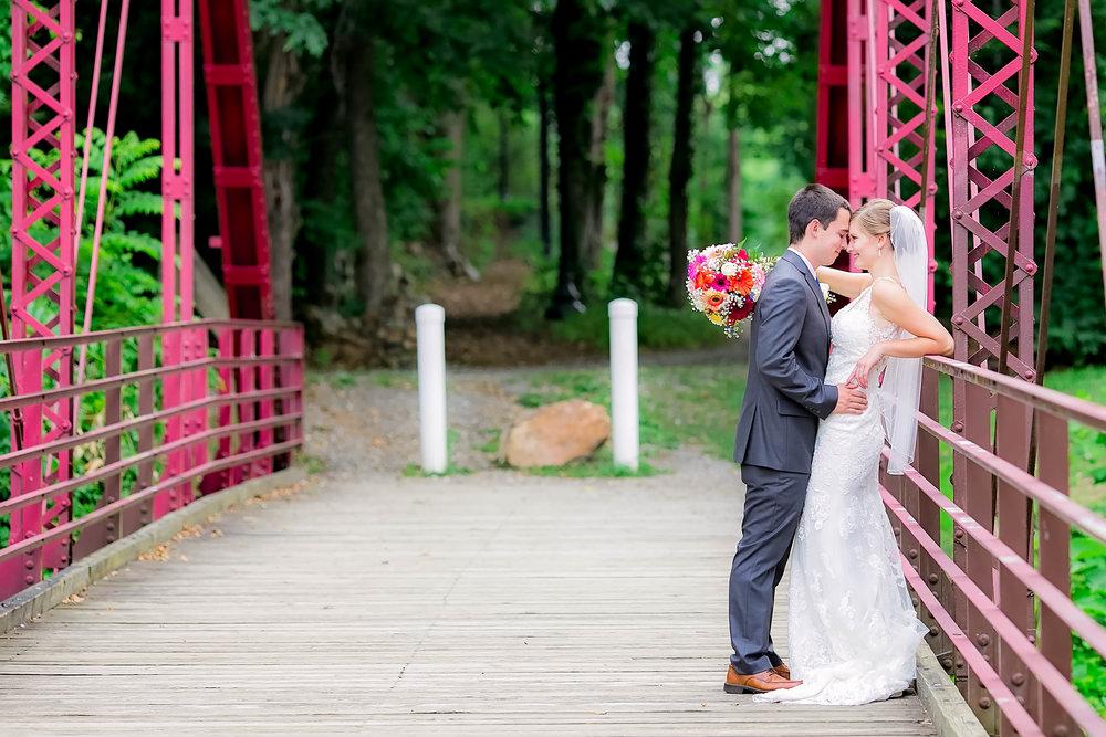 Hot Springs, NC wedding, East Tennessee Wedding photography, bride and groom on bridge