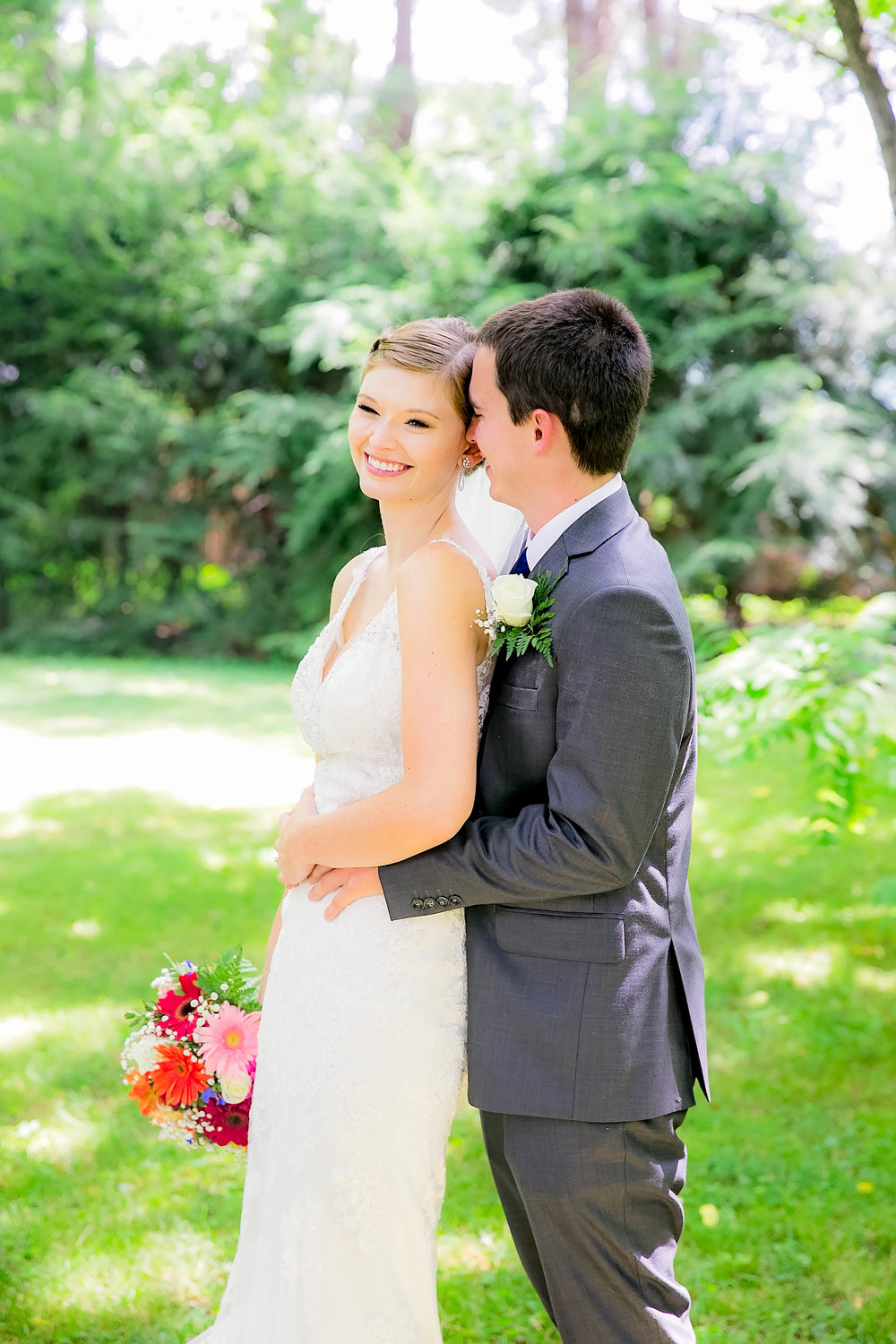 Hot Springs, NC wedding, East Tennessee Wedding photography, bride and groom laughing