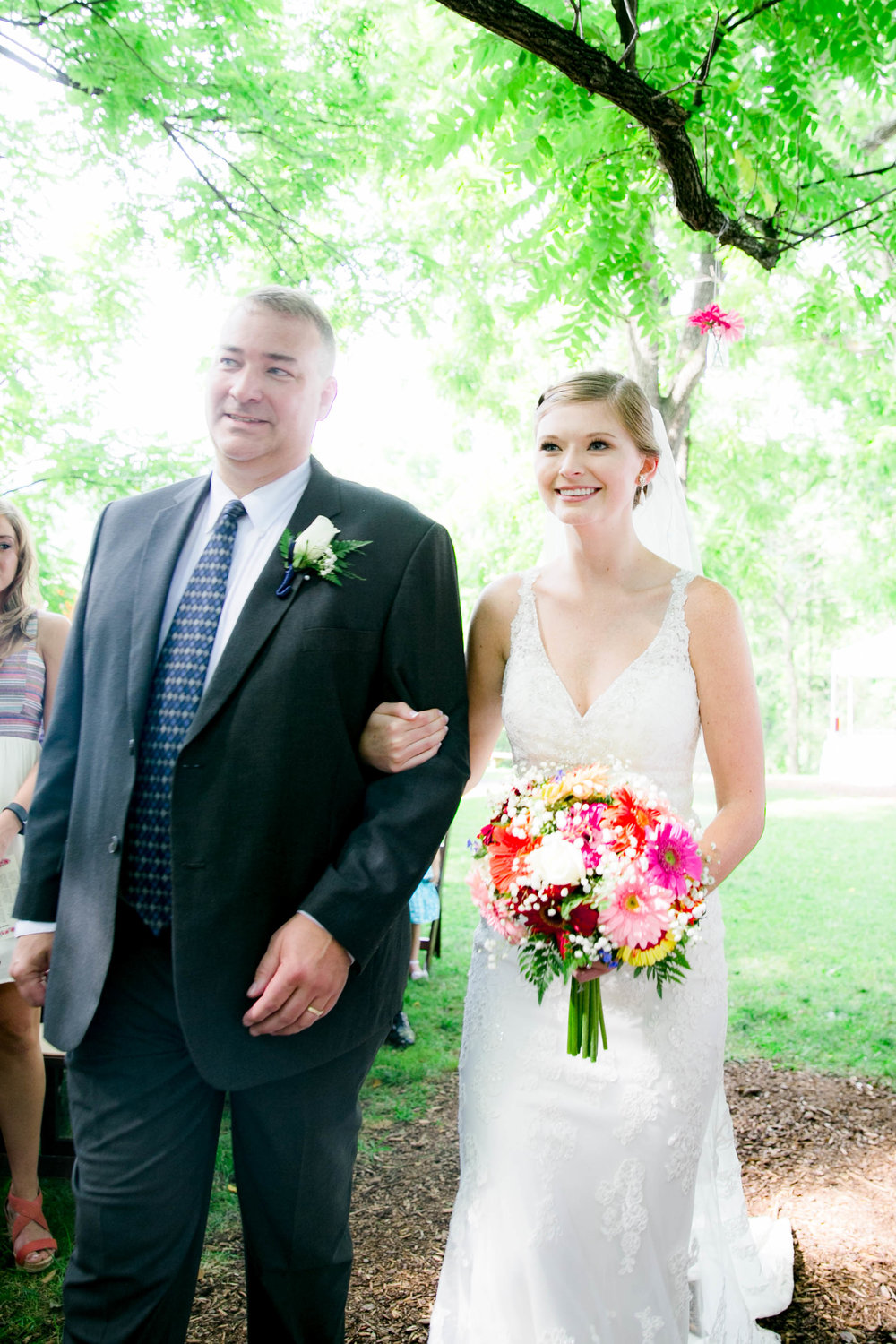 Hot Springs, NC wedding, East Tennessee Wedding photography, wedding ceremony, bridal processional