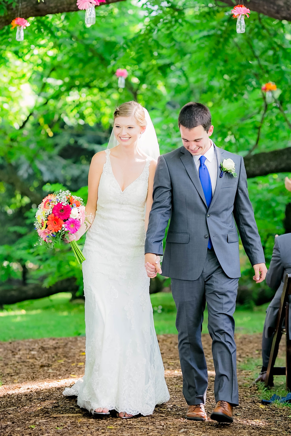 Hot Springs, NC wedding, East Tennessee Wedding photography, wedding ceremony, bride and groom recessional