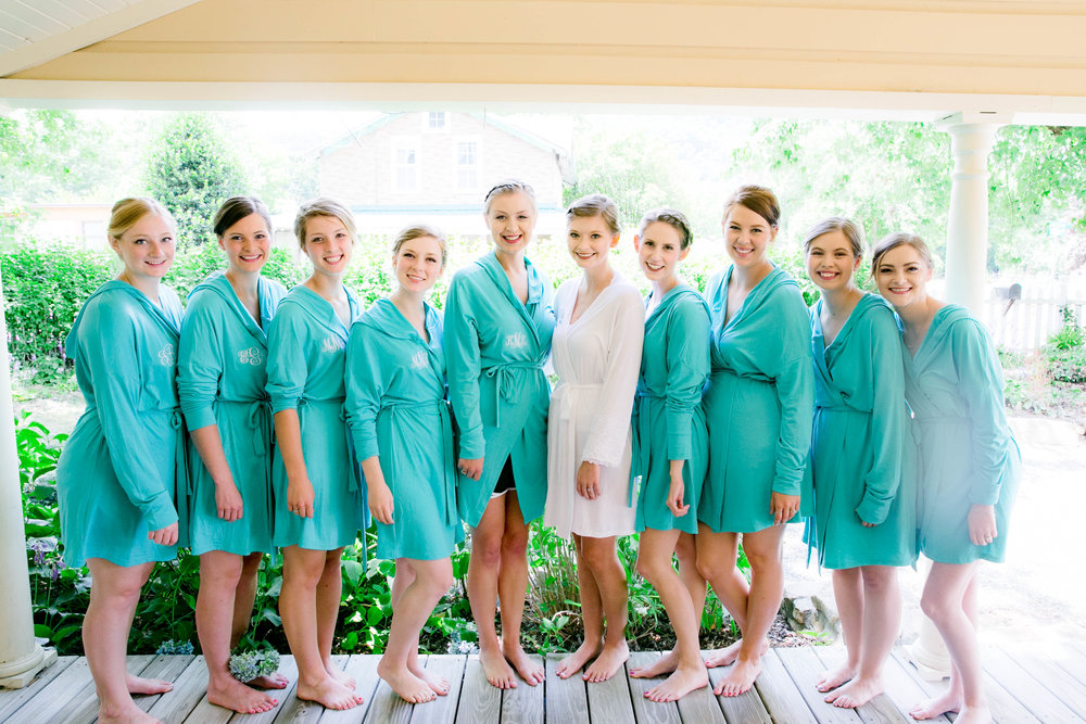 Hot Springs, NC wedding, East Tennessee Wedding photography, getting ready, bridesmaids, bridal party robes