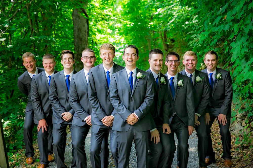 Hot Springs, NC wedding, East Tennessee Wedding photography, wedding party, groomsmen