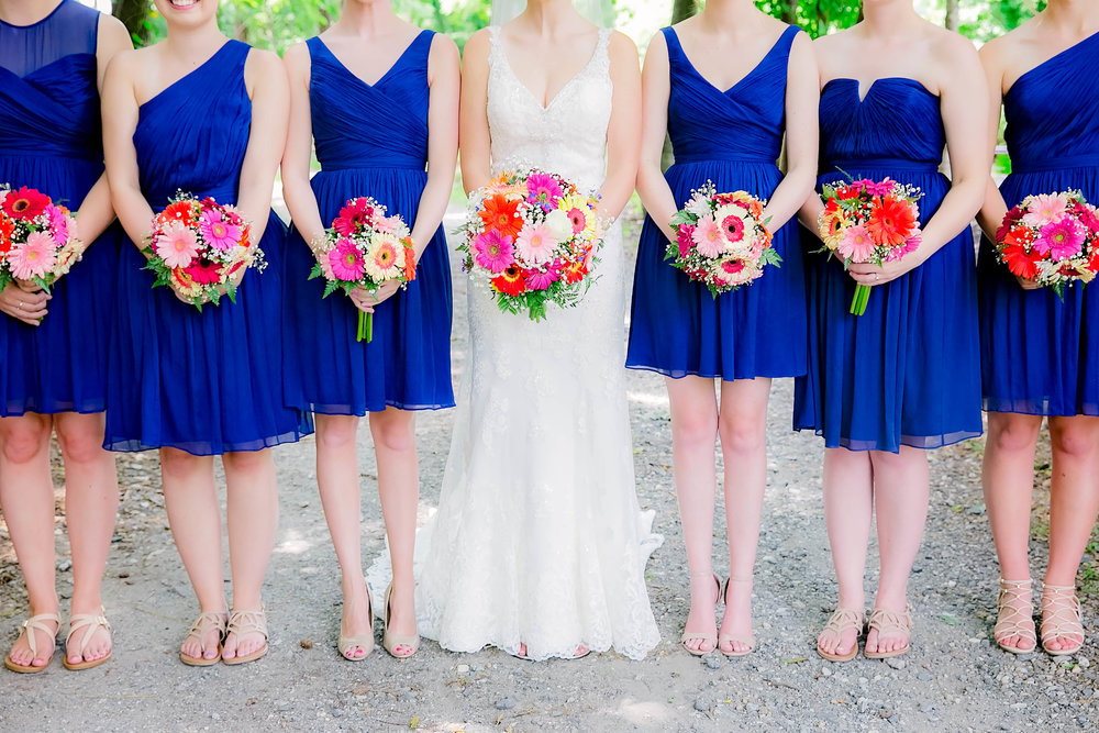 Hot Springs, NC wedding, East Tennessee Wedding photography, wedding party, bridesmaids, bridal party bouquets
