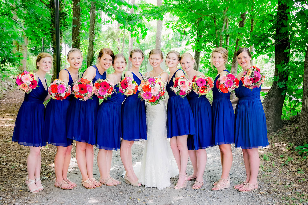 Hot Springs, NC wedding, East Tennessee Wedding photography, wedding party, bridesmaids, bridal party