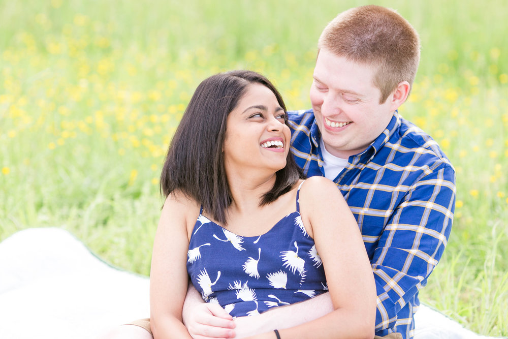 Johnson City wedding photography, Elizabethton engagement session, Tri Cities TN wedding photographer, East Tennessee wedding photography, Sycamore Shoals State Park engagement, field of wildflowers
